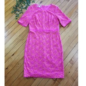 Maggy London pink lace dress